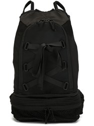 Nicopanda Cross Lace Backpack Black