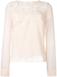 See By Chloe Guipure Lace Blouse Pink Purple