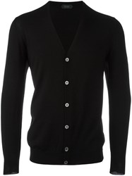Zanone V Neck Cardigan Black