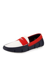 Swims Rubber Penny Loafer Water Shoes White