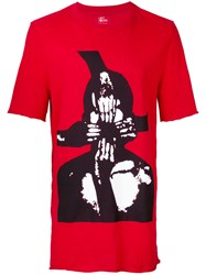 Lost And Found Ria Dunn Hidden Pocket Print T Shirt Red