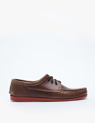 Quoddy Blucher With Brick Camp Soles Natural Brown
