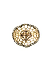 Loree Rodkin 'Princess' Lacey Cross Diamond Ring Metallic