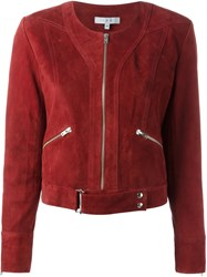 Iro Suede Jacket Red