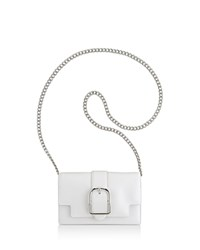 Anne Klein Peggy Leather Crossbody Optic White Silver