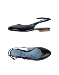 Manila Grace Ballet Flats Dark Brown