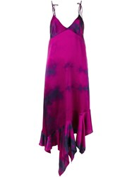 Marques Almeida Marques'almeida Tie Dye Cami Dress Pink And Purple