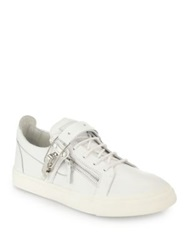Giuseppe Zanotti Ski Boot Buckled Leather Sneakers White