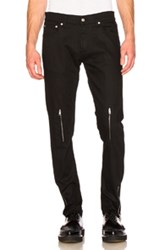 Alexander Mcqueen Zip Jeans In Black