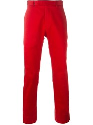 Christian Dior Homme Classic Chinos Red