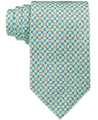 Brooks Brothers Men's Flag And Raft Neat Tie Green
