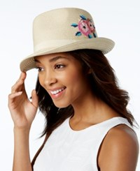 Inc International Concepts Embroidered Panama Hat Only At Macy's Natural