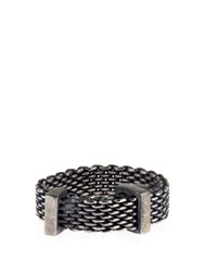 Title Of Work Mesh Chain Sterling Silver Ring
