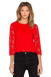 Kate Spade Floral Lace Top Red