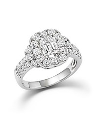 Bloomingdale's Emerald Cut Diamond Engagement Ring In 18K White Gold 2.20 Ct. T.W.