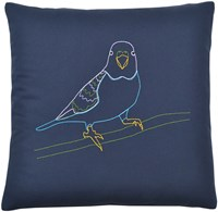 K Studio Parakeet Pillow Gray
