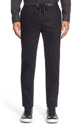Men's Michael Kors Wool Blend Joggers With Leather Trim
