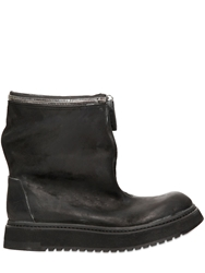 Cinzia Araia 35Mm Zippered Leather Boots Black