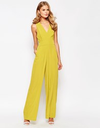 Love Jumpsuit With Cross Back Lime