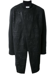 Selfmade By Gianfranco Villegas Embroidered Asymmetric Zip Coat Grey