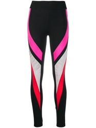 No Ka' Oi Colour Block Leggings Black