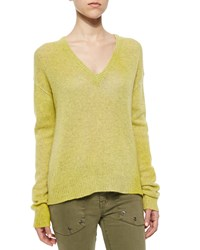Zadig And Voltaire Long Sleeve Cashmere Sweater Jaune