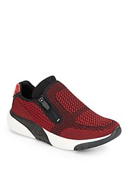 Ash Studio Platform Sneakers Red Black