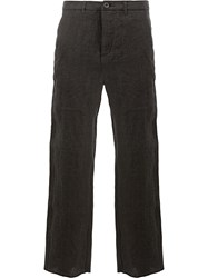 Individual Sentiments Straight Leg Trousers Black