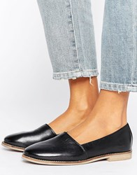 New Look Collapsable Back Loafer Black