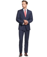 Tommy Hilfiger Blue Tonal Windowpane Slim Fit Suit
