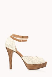 Forever 21 Darling Daisy Crocheted Platforms