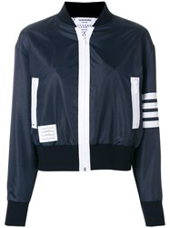 Thom Browne Lightweight Ripstop Bomber Blue