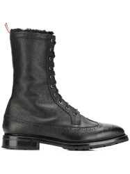 Thom Browne Shearling Lining Longwing Boot Black