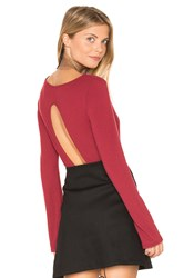 Project Social T Formation Open Back Bodysuit Red