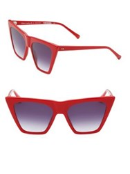 Colors In Optics Metropolitan 55Mm Cat Eye Sunglasses Tortoise Red Black