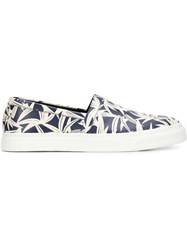 Marc Jacobs 'Layered Leaf' Slip On Sneakers Blue
