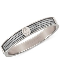Charriol Logo Bangle Bracelet In Stainless Steel Silver
