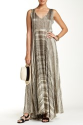 Biya Sleeveless V Neck Silk Maxi Dress Multi