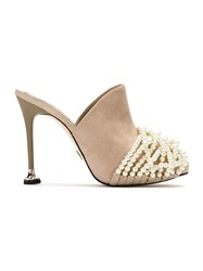 Andrea Bogosian Leather Mules Nude And Neutrals