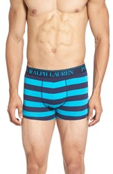 Polo Ralph Lauren Men's Stretch Cotton Boxer Briefs Cruise Navy Maui Blue Stripe