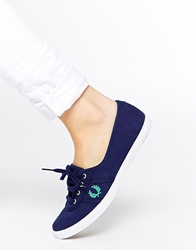 Fred Perry Aubrey Canvas Navy Plimsoll Trainers Frenchnavy