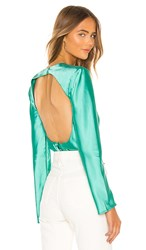 C Meo Collective X Revolve Polarised Blouse In Green. Mint
