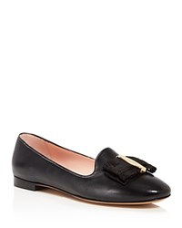 Salvatore Ferragamo Elisabella Bow Loafers Nero Gold