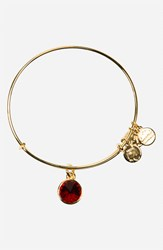 Women's Alex And Ani Birthstone Expandable Wire Bangle January Garnet