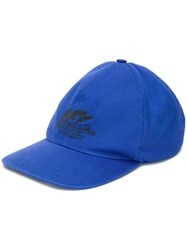 Off White Logo Embroidered Baseball Cap Blue