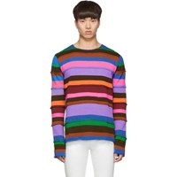 Comme Des Garcons Shirt Multicolor Striped Gauge 7 Sweater