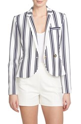 Women's 1.State Shrunken Stripe Blazer Cloud