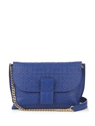 Loewe Avenue Leather Cross Body Bag Blue