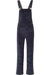 Mih Jeans M.I.H Korine Cotton Blend Corduroy Overalls Midnight Blue