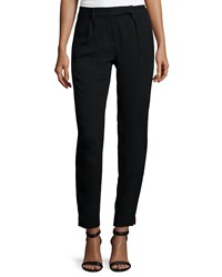 Halston Heritage Slim Fit Ankle Pants Black